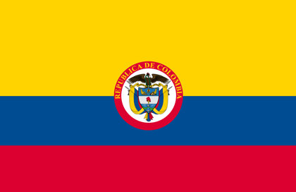 Drapeau Republique de Colombia