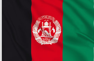 Drapeau de table Afghanistan