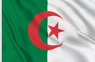 Drapeau de table Algerie