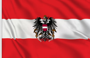 Drapeau de table Autriche etat