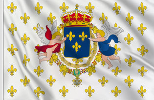 Drapeau Royaume de France (Marine militaire) (1638-1789)