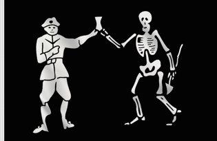 Drapeau Pirate Bartholomew Roberts