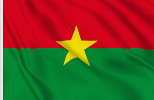 Drapeau de table Burkina Faso