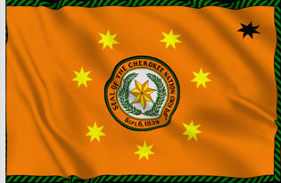 Drapeau Nation Cherokee