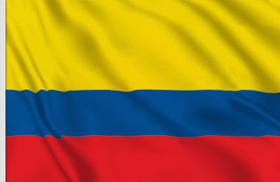 Drapeau de table Colombia