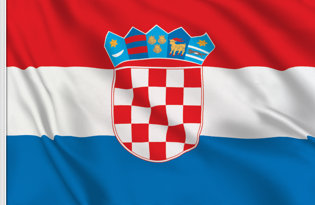 Drapeau de table Croatie