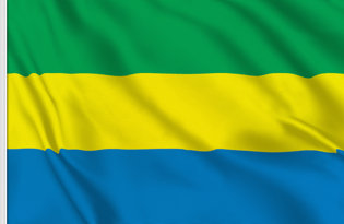 Drapeau de table Gabon