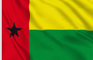 Drapeau de table Guinee-Bissau