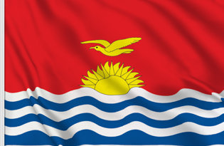 Drapeau de table Kiribati