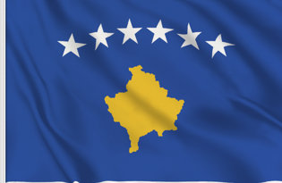 Drapeau de table Kosovo