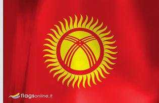 Drapeau de table Kirghizistan