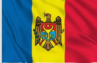 Drapeau de table Moldavie