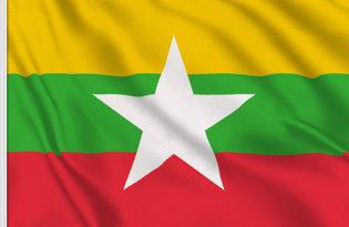 Drapeau de table Myanmar