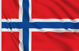 Drapeau de table Norvege