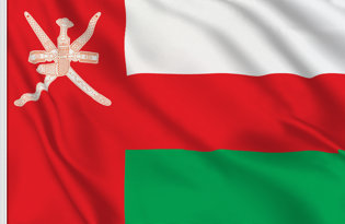 Drapeau de table Oman