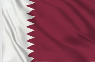 Drapeau de table Qatar