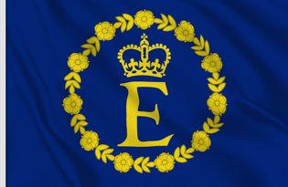 Drapeau etendard Elizabeth II