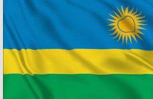 Drapeau de table Rwanda