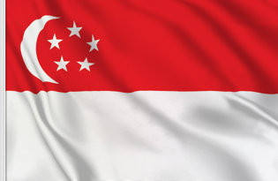 Drapeau de table Singapour