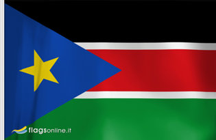Drapeau de table Sud-Soudan