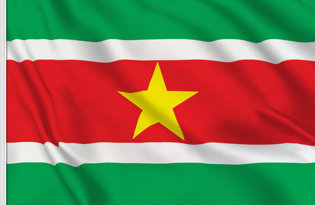 Drapeau de table Suriname