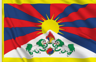 Drapeau de table Tibet