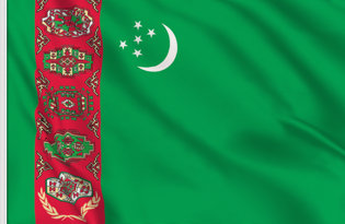 Drapeau de table Turkmenistan
