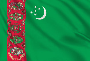 Drapeau Turkmenistan