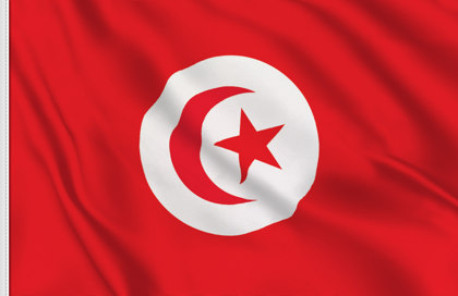 Drapeau de table Tunisie