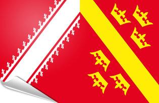 Drapeau adhésif Alsace 1949