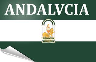 Drapeau adhésif Andalousie-arbondaira