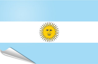 Drapeau adhésif Argentine