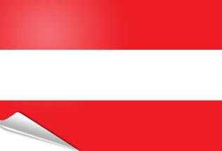 Drapeau adhésif Autriche
