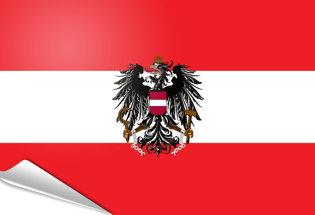 Drapeau adhésif Autriche etat