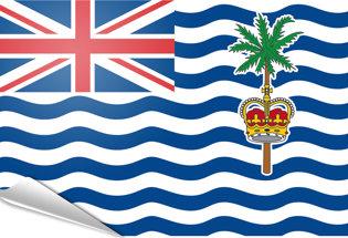 Drapeau adhésif Ocean Indien Britannique
