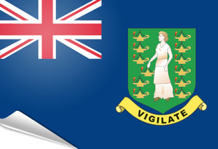 Drapeau adhésif Iles Vierges Britanniques