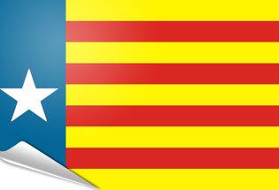 Drapeau adhésif Estelada valenciana