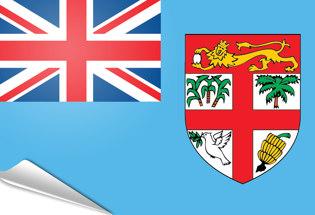 Drapeau adhésif Fidji