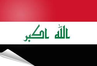 Drapeau adhésif Irak