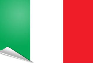 Drapeau adhésif Italie