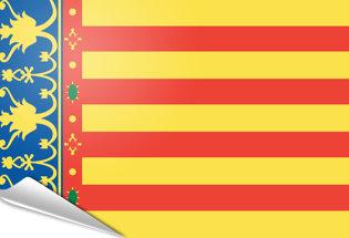 Drapeau adhésif Communauté Valencienne