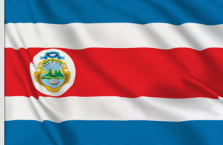 Drapeau de table Costa Rica de Etat