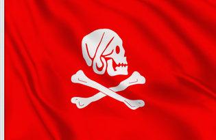 Drapeau Pirate Avery rouge