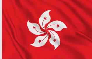 Drapeau de table Hong Kong
