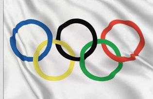 Drapeau de table Olympique