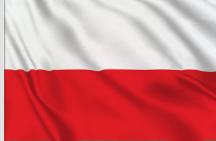 Drapeau de table Pologne