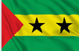 Drapeau de table Sao Tome