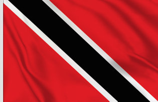 Drapeau de table Trinite et Tobago