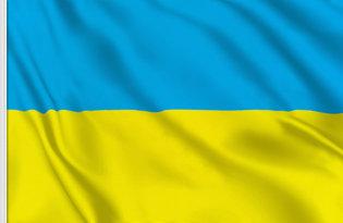 Drapeau de table Ukraine