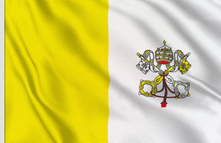 Drapeau de table Vatican de Etat